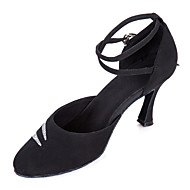 Non Customizable Women's Dance Shoes Modern Velvet/Paillette Stiletto Heel Black