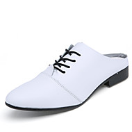 Men's Shoes Office & Career/Party & Evening/Casual Fashion PU Leather Oxfords Slip-on Shoes Black/White 39-44