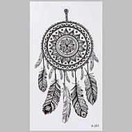 Fashion Tattoo Black Dreamcatcher Waterproof Tattoo Stickers
