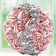Crystal Brooch Bouquet Floral Bridal Handholding Flower