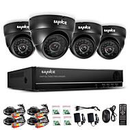 sannce® 960h 8ch CCTV-system vattentät videokamera 800tvl dome hemsäkerhet kameraövervaknings kit systemet