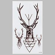 divat tetoválás fekete tündér szarvas vízálló tetoválás matrica