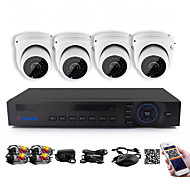 YanSe® 1100TVL 2.8mm 4CH CCTV Cameras Seystem DVR Kit IR Color Waterproof Security Cameras D/N (8CH 960H HDMI DVR)