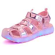 LED's Shoes Girls' Shoes Outdoor / Casual Slingback Synthetic Sandals Pink / Silver / Gold