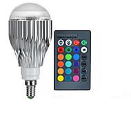 10W E14 LED Λάμπες Σφαίρα A50 1 LED Υψηλης Ισχύος 600-800 lm RGB Τηλεχειριζόμενο AC 85-265 V 1 τμχ