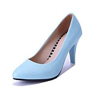 נעלי נשים-בלרינה\עקבים-דמוי עור-שפיץ-כחול / ורוד / כסוף-חתונה / שמלה / מסיבה וערב-עקב גביע