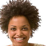 Mode 10-28inch Kinky afro lockige natürliche Farbe 100% brasilianisches Menschenhaar Perücke Spitzefrontseitenperücken