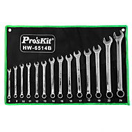 pro'skit® acier au chrome vanadium 14 ensembles de combinaison Clés outils à main du matériel