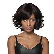 encantador e elegante médio ondulação natural do cabelo humano peruca