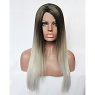 Capless Long Curly Grey Gradient Color Synthetic Hair Fashion Women Wig