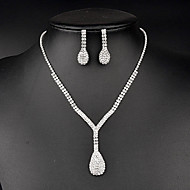 Women's Rhinestone Jewelry Set Crystal / Rhinestone