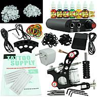 nybegynder tattoo kit strømforsyning 7 blæk indstille en maskinudstyr