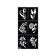 1 stk tatovering henna airbrush sjablong midlertidig fire firkløver blomst svart tatovering mønster klistremerke s249