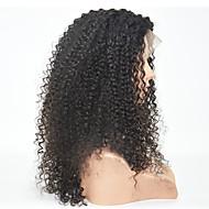 Vrouw Pik zwart Zwart Donkerbruin Haar Natuurlijke haarlijn Synthetisch haar Kanten VoorkantNatuurlijke pruik Halloween Pruik Carnaval