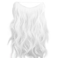parykk hvit 45cm syntetisk høy temperatur wire krøllete hår stykke farge 1001