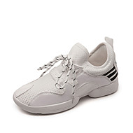 Women's fashion Dance Shoes Dance comfortable Sneakers Fabric Chunky Heel