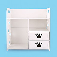 Fashion Plastic K/D  Modern/Contemporary Storage Rack/Dresser/Storage Cabinet White