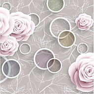 JAMMORY Floral Wallpaper Classical Wall Covering,Canvas Warm Simple Rose Flower