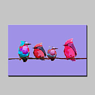 Large Hand Painted Modern Abstract Color Bird Animal Oil Painting On Canvas Wall Art With Frame Ready To Hang 90x140cm