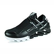 Running Shoes Men's Comfort Leatherette Casual Flat Heel Black / White Sneaker