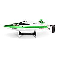 Velocità barca Fei lun FT009 Da corsa RC Boat Elettrico con spazzola 4CH 2.4G 30km/h Green