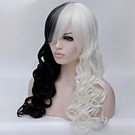 l'Europa e gli Stati Uniti il nuovo Anime Parrucche parrucca di seta 28 pollici in bianco e nero misto ad alta temperatura i capelli