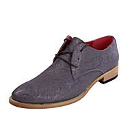 Men's Shoes Wedding / Office & Career / Party & Evening / Dress / Casual Synthetic Oxfords Black / Gray / Beige