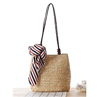 Women Straw Casual Tote Beige / Blue / Green / Brown