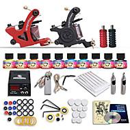 Dragonhawk® Beginner tattoo starter kits 2 machines 10 SetImmortal Tattoo Inks tattoo kit professional