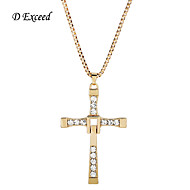 D Exceed Fast And Furious Dominic Toretto'S Cross Pendant Necklace Vin Diesel For Women And Men