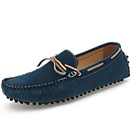 Men's Boat Shoes Spring Summer Fall Moccasin Nappa Leather Outdoor Office & Career Dress Casual Dark Brown Dark Blue