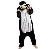 Kigurumi пижама Пингвин трико/Комбинезон-пижама Halloween Нижнее и ночное белье животных черный Пэчворк Флис Кигуруми Универсальные