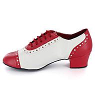 Moguće personalizirati-Muške-Plesne cipele-Jazz / Moderni-Sintetika-Kockasta potpetica-Crvena