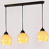 5 inch 3-lights Retro Tiffany Pendant Lights Shell Shade Living Room Dining Room light Fixture
