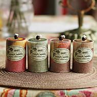 가든 테마 촛불 부탁-1 조각 / 세트 캔들 비 개인화 레드 / 쵸콜렛 / 그린 / 옐로우