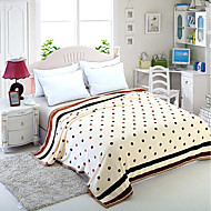 Recommend Chocolate Dots 100% Flannel Blanket New Super Soft Sofa Fleece  Plaid For Home Bedding