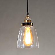Industrial Edison Simplicity Glass Pendant Lights Metal Base Cap Dining Room / Study Room/Office / Hallway light Fixture