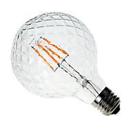 4W E26/E27 LED žárovky s vláknem G60 4 COB 400 lm Teplá bílá Ozdobné AC 220-240 V 1 ks