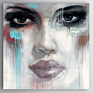 Kézzel festett Emberek Modern,Egy elem Hang festett olajfestmény