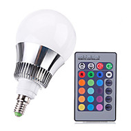 9W E14 LED Globe Bulbs A50 High Power LED 650-1000 lm RGB Dimmable / Remote-Controlled AC 220-240 V 1 pcs
