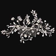 Dame Krystal / Legering / Imiteret Perle Medaljon-Bryllup / Speciel Lejlighed Hårkamme 1 Stykke