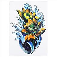 8pcs mujeres hombres regalos del día de estilo de la flor de la libélula arte del cuerpo tatuaje temporal de loto diseño de la manga del