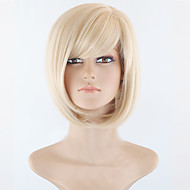 Short Bob High Quality Synthetic Blonde Straight Hair Wig With Full Bang