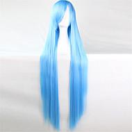 l'Europa e gli Stati Uniti la nuova parrucca di colore alto 100 cm di seta blu temperatura lunghe parrucche diritte