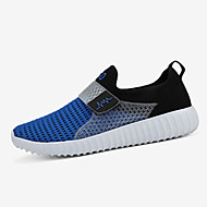 Men's Summer Comfort Light Soles Fabric Casual Flat Heel Black Blue Gray Walking