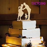 Cake Topper Non-personalized Monogram Wood