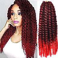 12-24 tommers hekle flette havana mambo afro vri hair extension svart til rødt