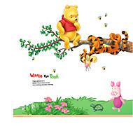 Winnie The Pooh Cartoon Kindergarten Wall Stickers Removable PVC Kids Room Wall Decals