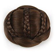 chignons castanhos encaracolados europa noiva cabelo humano sem tampa perucas excêntricas SP-189 2009