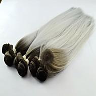 hot prodej syntetických yaki vlna T1b / stříbrné vlasy spřádá Prodlužování vlasů